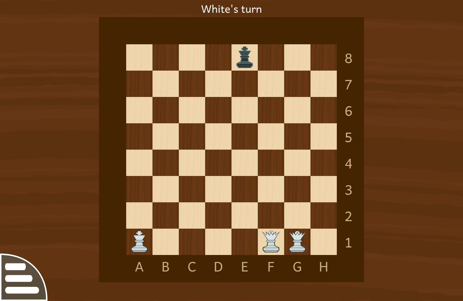 """End of chess game"" activity"