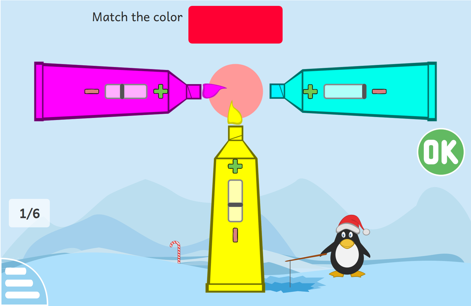 """Mixing color of paint"" activity"